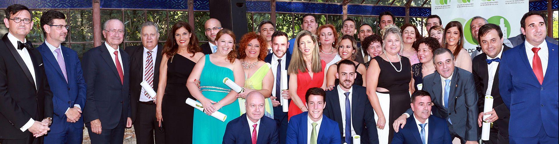 Fotografía Cena 2018 Colegio de mediadores de seguros de Málaga